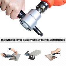Double Head Sheet Metal Nibbler Saw Cutter Power Drill Attachment Cutting Tool