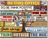 In This Office - Do.Be.Think Positive Poster No Frame