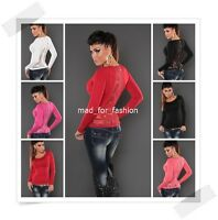 STUNNING PULLOVER JUMPER WITH LACE RHINESTONES AND FULL BACK ZIP. UK 8/10 5 COL.