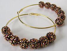 Basketball Wives Earrings Rhinestone Earrings Women Jewelry Gift Rhinestone Hoop