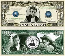 JAMES DEAN - BILLET de COLLECTION 1 MILLION de DOLLAR US ! Fifties 50