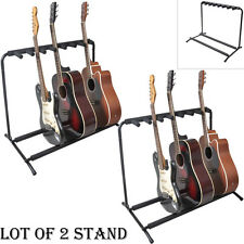 LOT OF 2 Pyle PGST43 Guitar Stand Multi-Instrument Floorstand Guitar Rack Holder