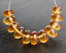 Natural Citrine Faceted Rondelle Semi Precious Gemstone Beads