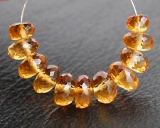 Natural Citrine Faceted Rondelle Semi Precious Gemstone Beads