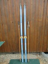 """GREAT Ready to Use Cross Country 81"""" Long KARHU 210 cm Skis + Poles"""