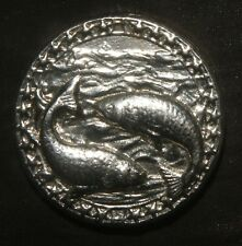 SILVER FISH ROUND  HIGH RELIEF 2.45  OZ .999 PURE SILVER ROUND  LOT 231132