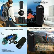 US Waterproof Portable Outdoor Wireless Bluetooth Speaker SD Card Slot With Case