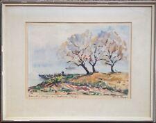 ::Robert Rapp (1882-1973), Tempera Gemälde, Novembermorgen Bodensee antik selten