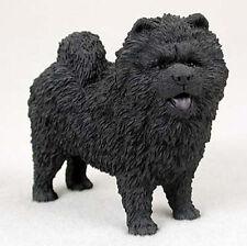 Chow Chow Hand Painted Dog Figurine Statue Black