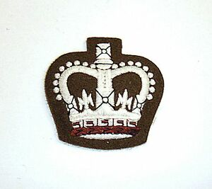 WO2 ARMED FORCES LARGE PADDED CROWN/WARRANT OFFICER 2