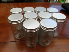 10 X Empty Storage Jars - Ideal for Herbs &Spices or Buttons & Beads