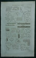1786 PRINT ~ GEOMETRY DIAGRAMS PARALLEL MEASURE OVAL RECTANGLE REDUCTION