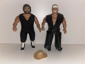 Vintage 1985 Remco AWA Wrestlers Jerry Blackwell & Stan Hansen