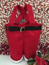 Santa Pants Gift Bag Red Felt Holiday Christmas Gift Package Us Seller