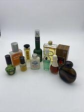 Lot Of 11 Bottles Vintage Avon Gillette Bacchus Men After Shave Cologne Bottles