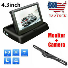 New Rear View Backup Camera and 4.3 LCD Rear View Mirror Monitor Kit For Car USA