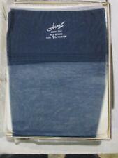 1Pr Vintage Hanes 615 Rt Sheer Heel Shiny Nylon Stockings Sz 9 1/2 Med Navy Blue