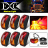 6X LED Clearance Lights Side Marker Lamp Amber Red Trailer Truck Caravan 12V-24V