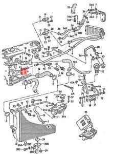 Genuine AUDI VW 100 Avant Quattro 200 4000 Coolant Hose 034121063C