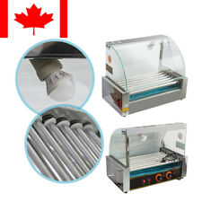 Pro Commercial 7 Roller 18 Hot Dog Hotdog Grill Cooker Machine With Cover Best