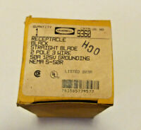NOS Hubbell 9360 Straight Blade Receptacle 2 Pole 3 Wire 50A 125V NEMA 5-50R