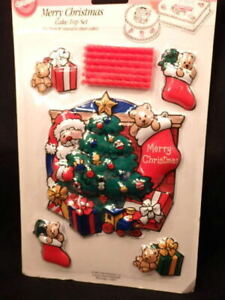 Wilton Merry Christmas Cake Top Set 1992 Mint