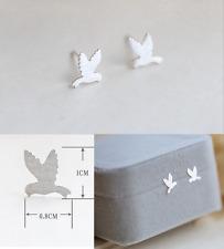 Tiny 925 Sterling Silver Cute Flying Bird Post Stud Animal Earrings Girl Box K4A