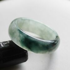 Size 8 3/4 ** CERTIFIED Natural (A) Untreated Oily Green Jadeite JADE Ring #R200