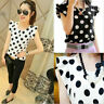 Women's Casual Chiffon Blouse Short Sleeve Shirt T-shirt Summer Tops Fashion