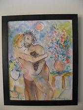 Raya Sorkine né en 1936 - Aquarelle originale sur papier - 1993 -