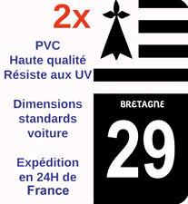 Sticker Autocollant plaque immatriculation Département 29 Finistère Bretagne X2