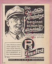 DÜSSELDORF, Werbung 1950, Henkel & CIE AG P3 Reinigung von Motoren Melk-Geräte