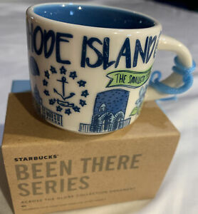 Starbucks Been There Rhode Island State Series Holiday 2 Oz Ornament Ceramic New