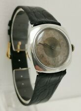 Vtg 1929 Art Deco Solid Sterling Silver Cushion Gents Wrist Watch A.Schild Movt