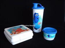Tupperware Disney/Pixar Finding Dory 3 pc Lunch Set Tumbler Sandwich Snack NEW