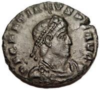 GRATIAN 367-375 AD Æ Roman Bronze Nummus Coin Victory Siscia