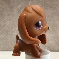 Littlest Pet Shop #16 Dog Puppy tan brown beagle w/ purple eyes SHIPS FREE in US