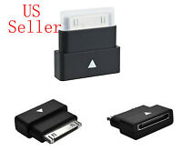Black Male to Female 30 Pin Dock Extender Connector Adapter For Apple ipod Nano
