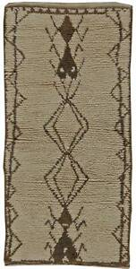 Moroccan Rug with Geometric Design in Tan, Brown, and Black BB5763