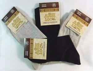 Mens Linen Flax Socks 100% Pure Linen 4 Pairs