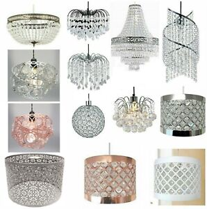 Modern Chandelier Acrylic Crystal Light Shades Droplet Ceiling Lampshade Pendant