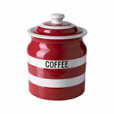 Cornish Red Coffee Storage Jar by T.g.green Cornishware