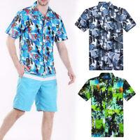 Mens' Fashion Hawaii Casual Shirts Summer Beach Short Sleeve Floral Shirts NG