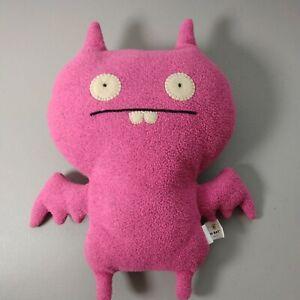 """VTG Ugly Doll PINK DREAM BAT 13"""" Plush Stuffed Animal Toy 2002 HTF Buck Teeth"""