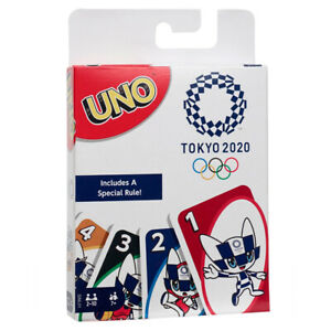 MATTEL UNO TOKYO 2020 OLYMPICS CARDS MATCHING GAME SPORTS FAMILY FUN PARTY PLAY
