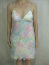 Baby Doll Marcs Size 6 Pastel Silk Summer Party Dress