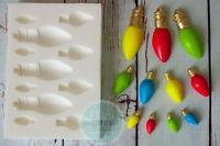 Multi Christmas Tree Lights, Fairy Lights, Light Bulb Silicone Mould M219