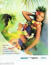PUBLICITE ADVERTISING 116  2006  Air France  Air Tahiti Nui  Exotismes