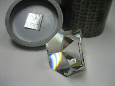 "Swarovski "" Octron "" Clear Paperweight-Retired"