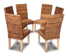 Set of 6 Havana Rattan Dining Chairs (6b1l)